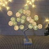 iBaste 24 LEDs Tischlampe Nachtlichter Kugel Baumlicht Weihnachtsbeleuchtung Künstliche Licht 45cm Festliche Lichter Deko für Büro Haus order Party