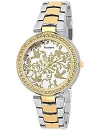 Austere Analogue Gold Dial Women'S Watch - Wkta-060706