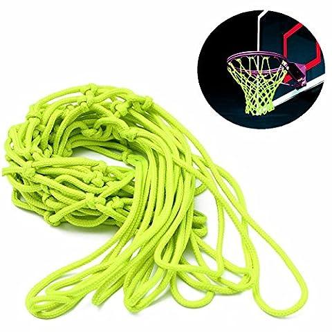 Cisixin Filet Fluorescent de basketball, Basket Net Lumineux Brillent dans le Noir