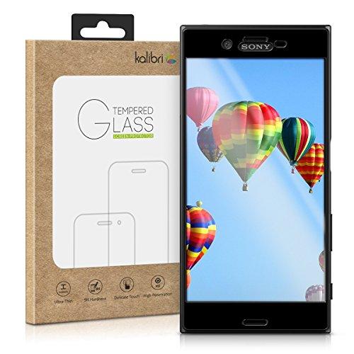 kalibri-Echtglas-Displayschutz-fr-Sony-Xperia-XZ-3D-Schutzglas-Full-Cover-Screen-Protector-mit-Rahmen-in-Schwarz