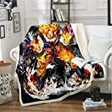 TTLDB Tagesdecken Dragon Ball Wukong Adult Schlafsofa Bettlaken Heimtextilien Soft Solid Blanket Wolldecke (A) 150 × 200 cm