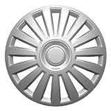 """Fussmatten-Deluxe Radkappen Radzierblenden Silber 15 Zoll 15"""" R15#LUX# für Fast alle Standard - Stahlfelgen z.B. Volvo"""