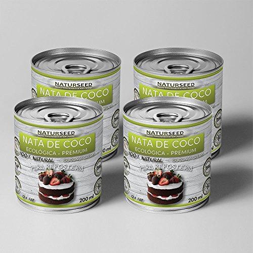 Naturseed - Nata de coco ecológica Premium para cocinar, sin lactosa.