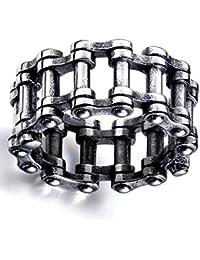 Xindian Meritorious - Anillo de Cadena de Acero Inoxidable Estilo Steampunk, Estilo gótico, para Motocicleta, Moto, Moto, Motociclista