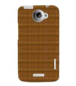 Sine Wave Pattern 3D Hard Polycarbonate Designer Back Case Cover for HTC One X