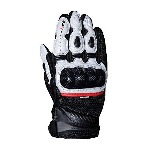 Oxford RP-4 Motorrad Handschuhe - Schwarz Weiß, Large