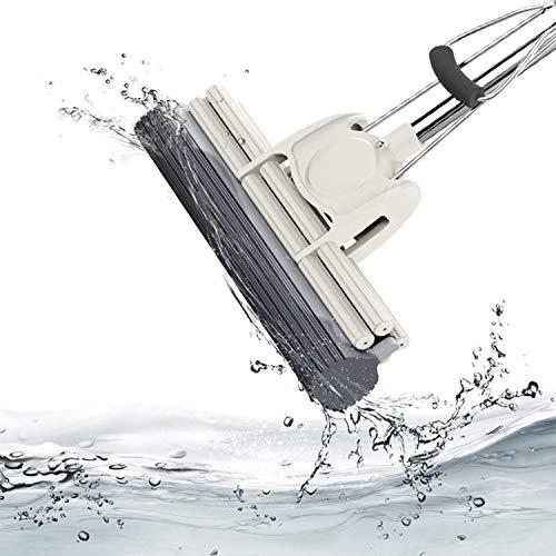 Dongzhifeng scopa mop in spugna con manico in plastica multiuso mop in acciaio inox rullo in acciaio inox spremere senza acqua spugna lavapavimenti