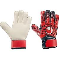 Boys UHLSPORT ELIMINATOR SOFT SUPPORT FRAME FINGER PROTECTION JUNIOR LTD Goalkeeper Gloves For Football
