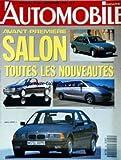 AUTOMOBILE MAGAZINE [No 531] du 01/09/1990 - AVANT PREMIERE SALON - NOUVEAUTES - FORD ESCORT - VW GOLF CABRIOLET - DE LA CHAPELLE PC12 - BMW SERIE 3....