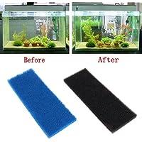 Dabixx Acuario Bioquímico Algodón Filtro Espuma Fish Tank Esponja Filtración Pad, esponja, negro, XY-1810