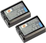 DSTE® 2x NP-FW50 Rechargeable Li-ion Battery for Sony Alpha 7, a7, Alpha 7R, a7R, Alpha 7R II, Alpha a3000, a6000, NEX-3, NEX-3N, NEX-5, NEX-5N, NEX-5R, NEX-5T, NEX-6, NEX-7, NEX-C3, NEX-F3, SLT-A33, SLT-A35, SLT-A37, SLT-A55V, Cyber-shot DSC-RX10 Digital Camera