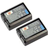 DSTE® 2x NP-FW50 Li-ion Batería para Sony Alpha 7 (a7), Alpha 7R (a7R), Alpha 7S (a7S), Alpha a3000, Alpha a5000, Alpha a6000, Cyber-shot DSC-RX10, NEX-3, NEX-3N, NEX-5, NEX-5N, NEX-5R, NEX-5T, NEX-6, NEX-7, NEX-C3, NEX-F3, SLT-A33, SLT-A35, SLT-A37, SLT-A55V ...