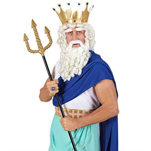 idon Zepter schwarz-gold Halloween Teufelsdreizack Satan Halloweenparty Deko Teufelsgabel Griechische Götter Waffe Shiva Antike Mottoparty Accessoires Karneval Kostüm Zubehör (Griechische Götter-kostüm)