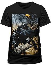 Batman Cityscape Dark Knight Official Comic Movie Tee T-Shirt Top Mens Ladies Womens Unisex