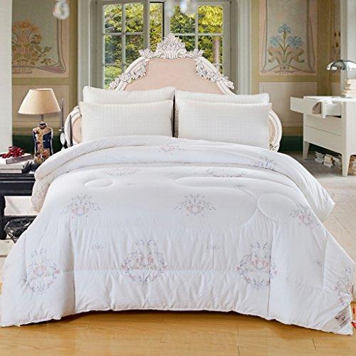 MMM Protège-coton en coton Conserver un couvre-chef en hiver chaud Impression en trois dimensions Double épaisseur de literie (Couleur : Blanc)