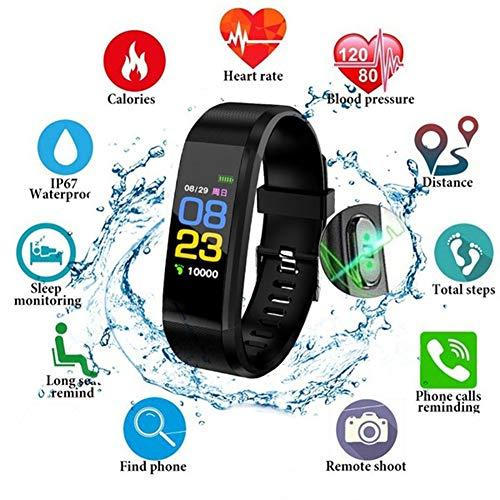9302sonoaud Braccialetto Fitness da Fascia per Monitor per la misurazione della Pressione arteriosa della frequenza cardiaca a Colori Rosso