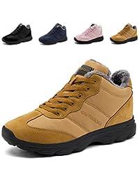 Stivali da Neve Invernali Scarpe Allineato Pelliccia Caloroso Caviglia  Piatto Stivaletti Stringate Boots per Uomo Donna f2808c942d8