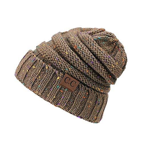 HAOLIEQUAN Nuevos Sombreros De Algodón De Punto para Mujer De Otoño E Invierno Abrigos De Esquí Cálidos Y Cómodos Tendencia De Moda Slouchy Beanie Skullies, B