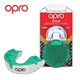 Opro Unisex's Gold Sports Mouthguard, White/Mint, Adult
