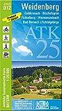 ATK25-D12 Weidenberg (Amtliche Topographische Karte 1:25000): Goldkronach, Bischofsgrün, Fichtelberg, Warmensteinach, Bad Berneck i.Fichtelgebirge (ATK25 Amtliche Topographische Karte 1:25000 Bayern) - Landesamt für Digitalisierung  Breitband und Vermessung  Bayern