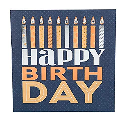 Depesche 8211.036Tarjeta de felicitación Glamour con Ornamento y Purpurina, cumpleaños