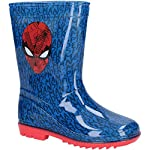 Leomil Boys Spiderman Slip On Lightweight Wellington Boots