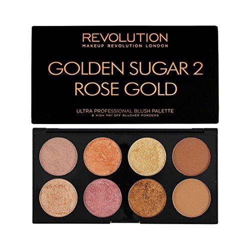 MAKEUP REVOLUTION Ultra Blush Palette Golden Sugar 2 Rose Gold, 13 g (Rose Palette)