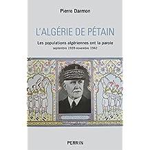 L'Algérie de Pétain