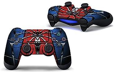 Elton PS4 Controller Designer 3M Skin for Sony PlayStation 4 DualShock Wireless Controller - SPIDER ( blue, red, standard ), Skin for One Controller Only