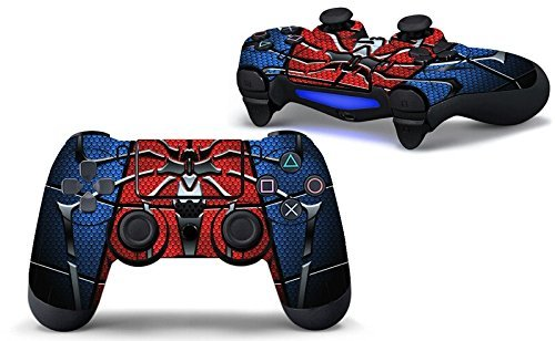 Elton PS4 Controller Designer 3M Skin for Sony PlayStation 4 DualShock Wireless Controller - SPIDER ( blue, red, standard ), Skin for One Controller Only