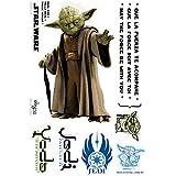 Abystyle ABYDCO113_B - Adhesivo decorativo de vinilo para pared, figura de Yoda a tamaño real (66 x 42 cm)