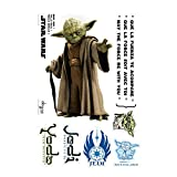 ABYstyle ABYDCO113_B - Décoration - Star Wars - Planche de Stickers - Muraux Yoda - Echelle 1