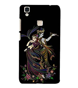 Illustration Radha Krishna 3D Hard Polycarbonate Designer Back Case Cover for VIVO V3 MAX