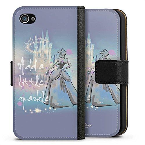 Apple iPhone X Silikon Hülle Case Schutzhülle Disney Cinderella Geschenke Fanartikel Sideflip Tasche schwarz
