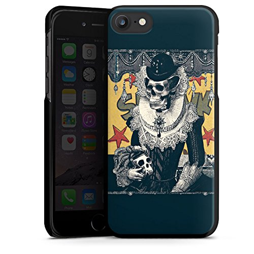 Apple iPhone X Silikon Hülle Case Schutzhülle Totenkopf Schädel Skull Hard Case schwarz