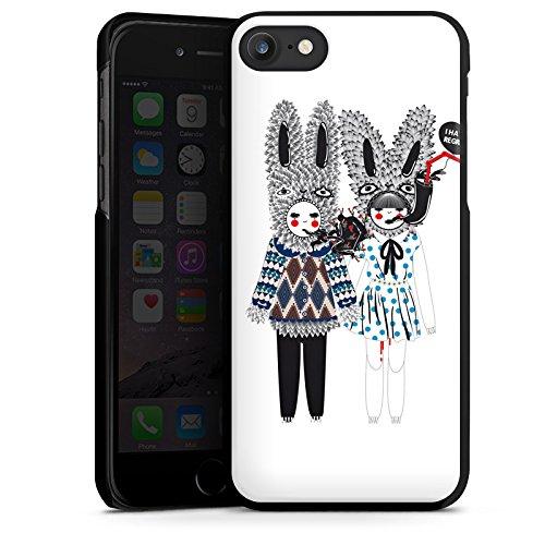 Apple iPhone X Silikon Hülle Case Schutzhülle Hasen Traum Fantasie Hard Case schwarz