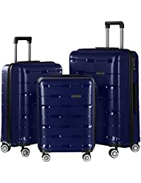 35b91631b38f Nasher Miles Santorini PP Hard-Sided Luggage Set of 3 Trolley Travel Tourist