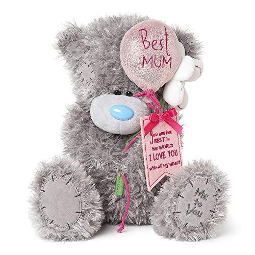 Me to You MPD01002 Best Mum Ballon & Flowers Tatty Teddybär, groß