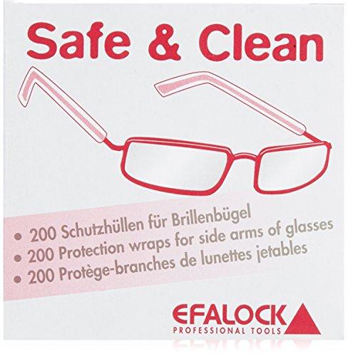 Efalock Safe and Clean Brillenschutz, 1er Pack (1 x 200 Stück) (Bügel Brillen Für)