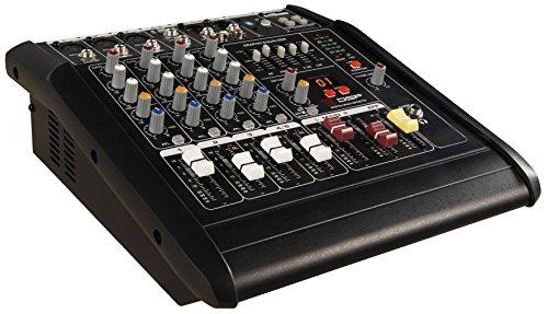 HOLLYWOOD the Starsound - 1500W 5-Kanal Powermixer Mischpult mit Verstärker | PM-25 | perfekt für DJs, Feiern und Bühnenauftritte - Dj-powermixer