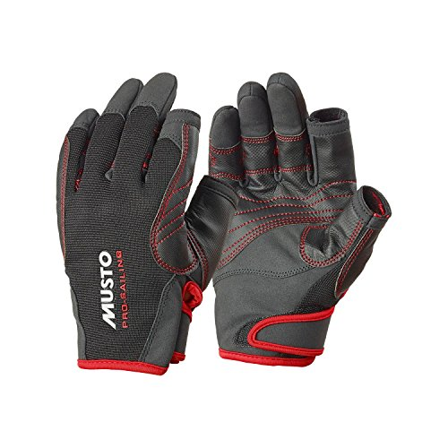 Musto Performance Handschuhe 2 kurze Finger schwarz L