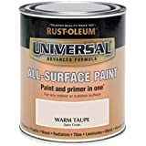 Rust-Oleum Universal All Surface Brush Paint and Primer Satin Warm Taupe - 750ml
