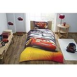 Twin Size/Singolo Copripiumino Set 3Pezzi 100% Cotone Beding Biancheria per Bambini Cars Red