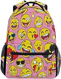 ac1038ee7d Zaino con Faccina Sorridente, Disegnato a Mano, Impermeabile, per la  Scuola, la