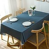 Alicemall Nappe pvc Rectangulaire Nappe Résistante Nappe Imperméable Anti-tache Nappe 140x220 Linge de table Couverture de Table(22)