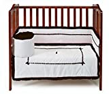 Baby Doll Unique Hotel Style Port-a-Crib Bedding Set, Chocolate
