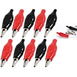 Alligator Clip 10PCS - 35 MM Small size Red and Black crocodile clips test leads