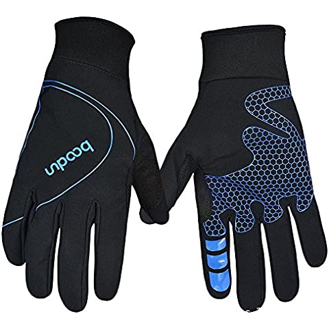 Recoco Autunno Gel Pad Full Finger Bike Gloves punta del