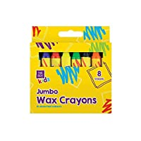 London Empire ® Non Toxic 8 Pack Jumbo Wax Crayons in Assorted Colours