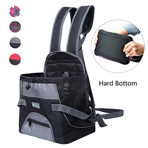 Grau Harte Böden (Wellver Hundetragetasche für kleine Hunde und Katzen mit hartem Boden, S, Grau/Schwarz)